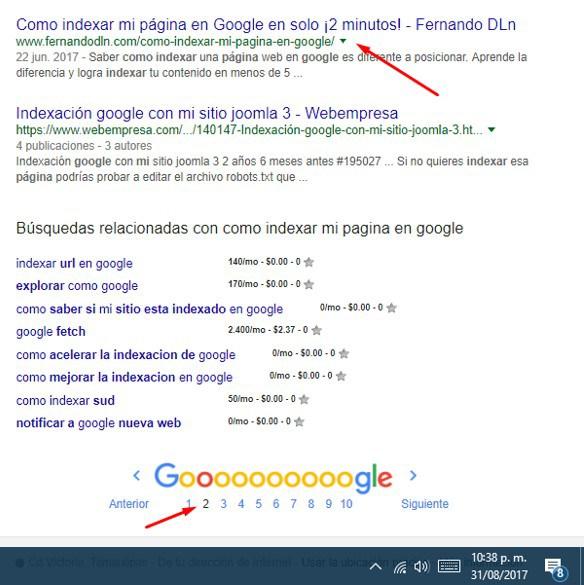 cómo indexar en google