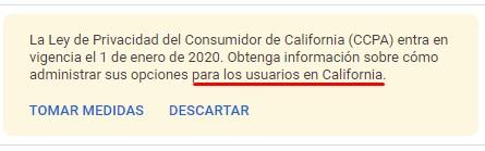 ley de privacidad del consumidor de california CCPA