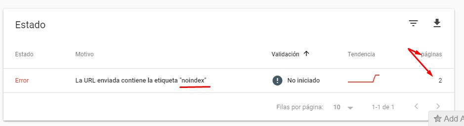 problema de indexacion indice de google